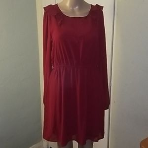 Beautiful feminine scarlet red dress! NEW!